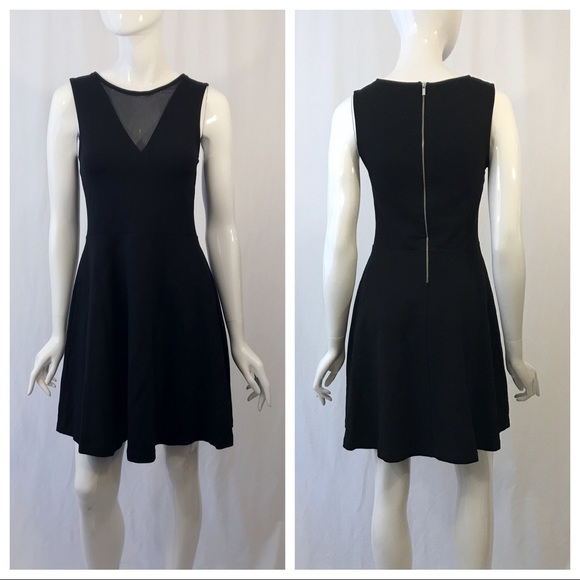 French Connection Dresses & Skirts - French Connection Sleeveless Mesh V Neck Dress